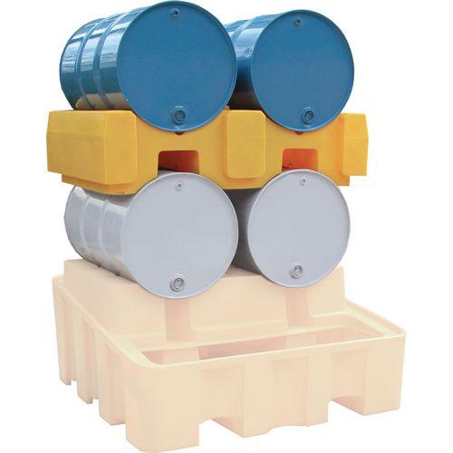 Drum Rack Yellow Plastic HxWxDmm: 390x940x1375
