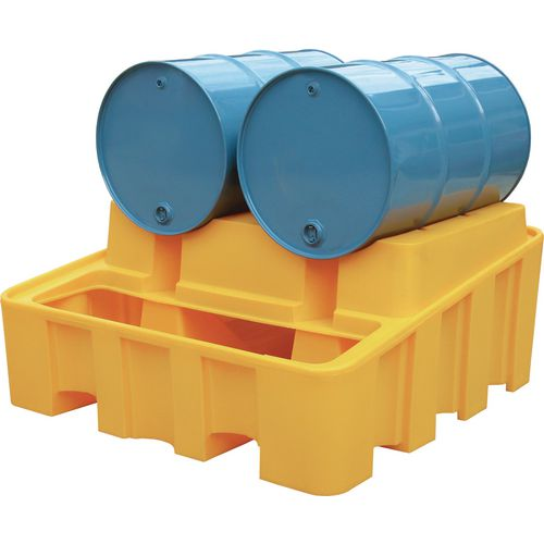 Drum Rack Base Yellow Plastic HxWxDmm: 635x1350x1375