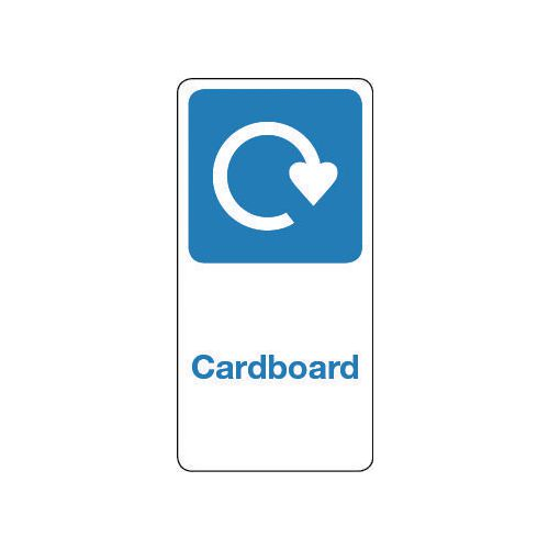 Sign Cardboard Vinyl Roll Of 500  HxW: 50x25