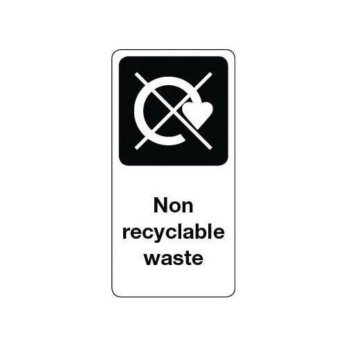 Sign Non Recyclable Waste Vinyl Roll Of 50  HxW: 100x50