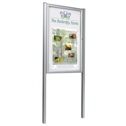 Anodised A0 (16Xa4) Size Portrait Classic Outdoor Noticeboard On Posts