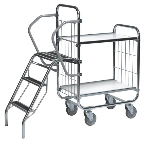 Flexible 2 Shelf Trolley With Ladder