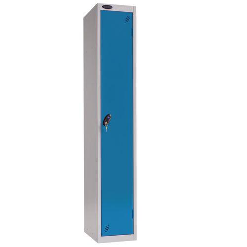 1 Door Locker With Coin Return Lock Silver Body Blue Door Hxwxd: 1778x305x380mm