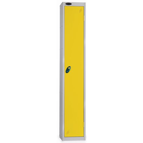 1 Door Locker With Coin Return Lock Silver Body Yellow Door Hxwxd: 1778x305x380mm