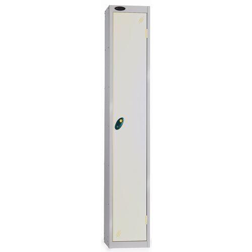 1 Door Locker With Coin Retain Lock Silver Body Smoke White Door Hxwxd: 1778x305x380mm