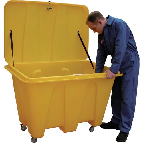 Grit Bin 500 Litre In Yellow And Storage Container