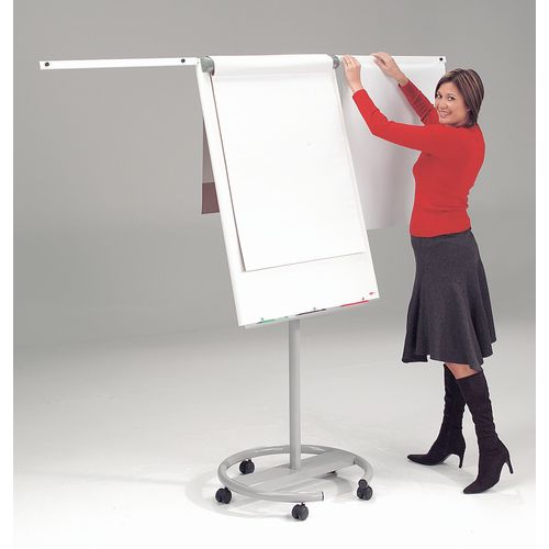 Mobile Pro Easel With Side Arms And Magnets White/Black/Grey Plastic/Alumin