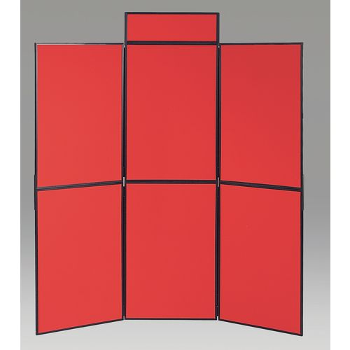 Aluminium Frame Folding Display Including Carrier Bag Black &Red Plastic &Aluminium 6 Panel