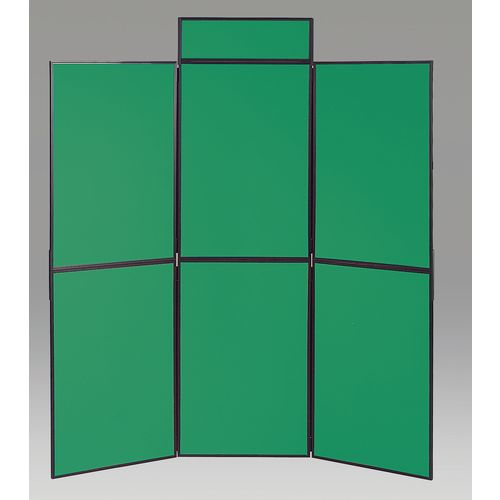 Aluminium Frame Folding Display Including Carrier Bag Black &Green Plastic &Aluminium 6 Panel