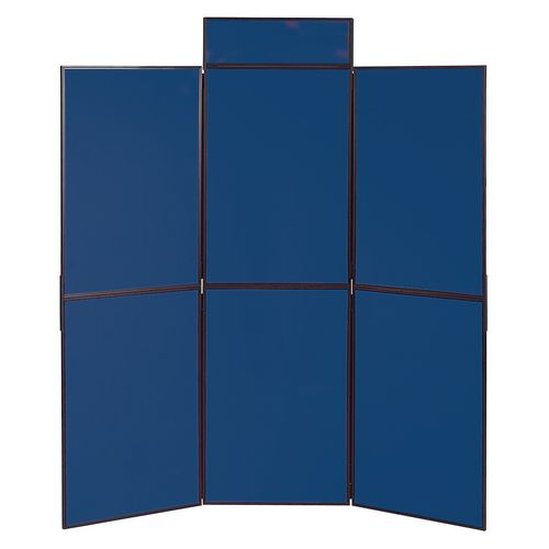 Lightweight Folding Display Inc Bag Black &Blue Wxdxh: 25x1800x1800 6 Panel