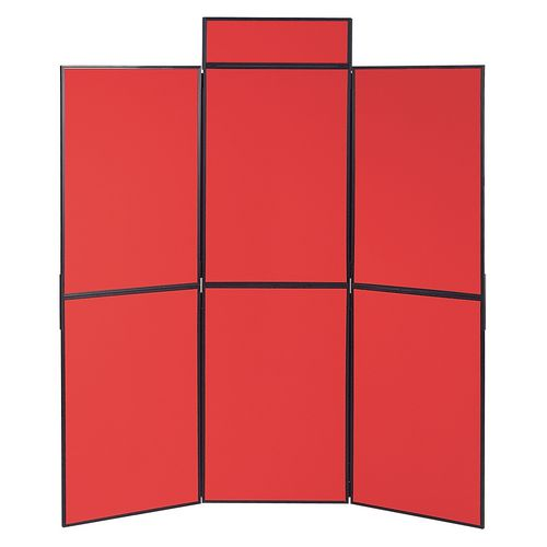 Lightweight Folding Display Inc Bag Black &Red Wxdxh: 25x1800x1800 6 Panel