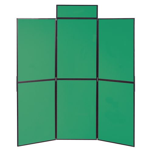 Lightweight Folding Display Inc Bag Black &Green Wxdxh: 25x1800x1800 6 Panel