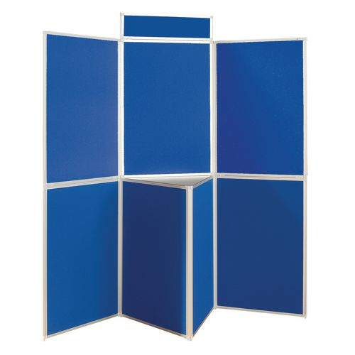 Lightweight Folding Display Inc Bag Black &Blue Wxdxh: 25x1800x1800 7 Panel Plus Table Top