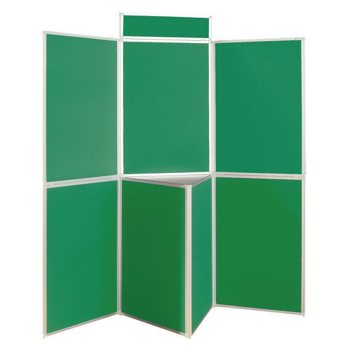 Lightweight Folding Display Inc Bag Black &Green Wxdxh: 25x1800x1800 7 Panel Plus Table Top