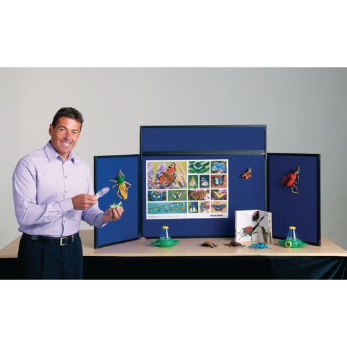 Lightweight Tabletop Display Inc Bag Black &Blue Wxdxh: 25x1800x600
