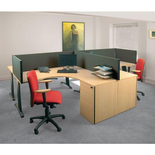 Busyscreen Desk Top Rectangular Screen Dark Grey Wxdxh: 32x1800 X