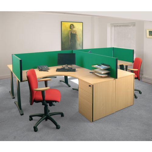 Busyscreen Desk Top Rectangular Screen Green Wxdxh: 32x1000x400