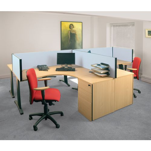 Busyscreen Desk Top Rectangular Screen Light Grey Wxdxh: 32x1000 X