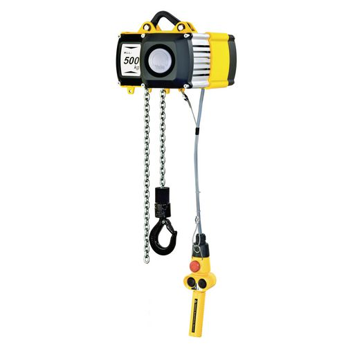 500Kg Electric Chain Hoist Push Travel With Push Trolley Single Speed