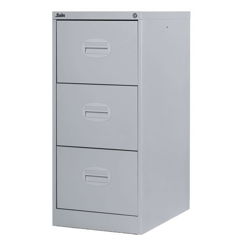 Filing Cabinet Kontrax Light Grey Steel HxWxD: 1009x458x622mm