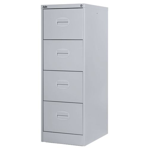 Filing Cabinet Kontrax Light Grey Steel HxWxD: 1320x458x622mm