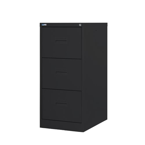 Filing Cabinet Midi Black Steel HxWxD: 1009x458x622mm