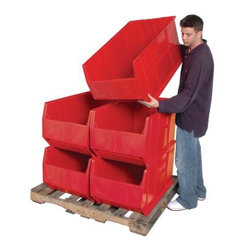 Small Parts Storage Bin  Red Wxdxh: 504x911x444