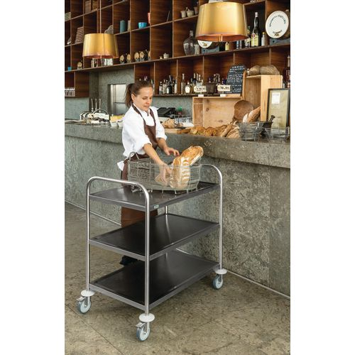 Stainless Steel Trolley 3 Shelf 600X400
