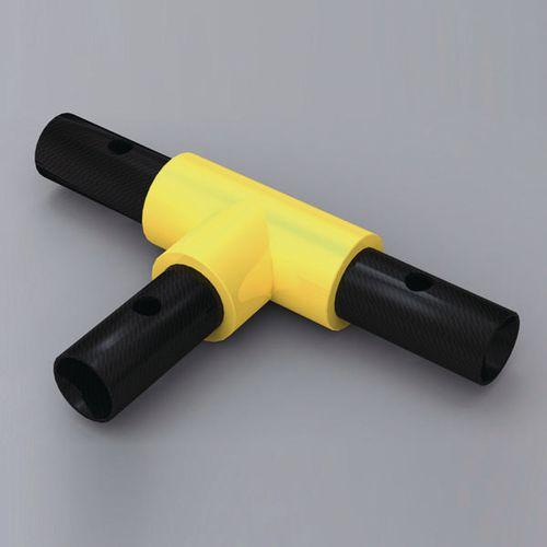 Handrail 90 Degree Tee Yellow