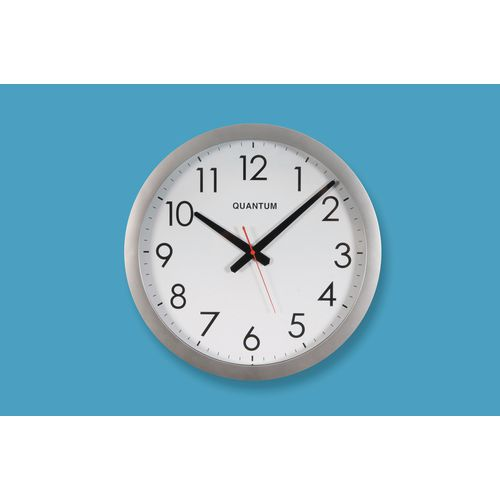 40Cm Clock With Silver Finish Bezel
