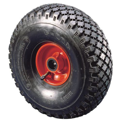 355mm Pneumatic Wheel 25.4mm Bore Plain Bearing 185Kg Load Capacity