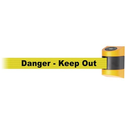 4.6M Yellow Caps Danger Keep Out Double Sided Webbing
