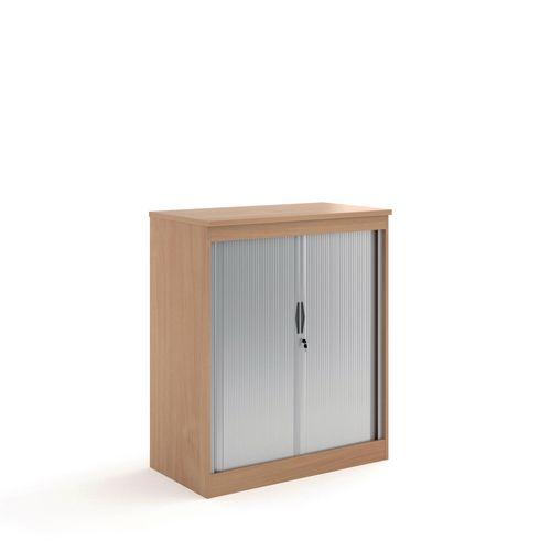 System Horizontal Tambour Door Cupboard Beech  HxWxD: 1200x1020x550