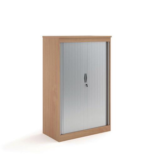 System Horizontal Tambour Door Cupboard Beech  HxWxD: 1600x550x550