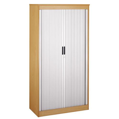 System Horizontal Tambour Door Cupboard Maple  HxWxD: 2000x1020x550