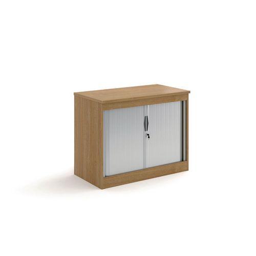 System Horizontal Tambour Door Cupboard Oak  HxWxD: 800x1020x550