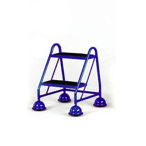Cup Step With Slip Resistant Treads No Handrail 2 Tread In Blue Height 1.185M Capacity 125kg