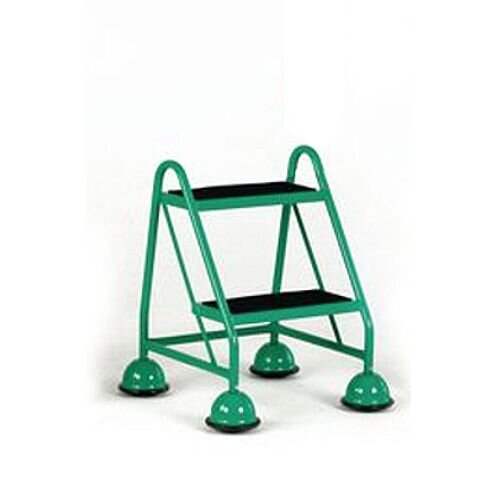 Cup Step With Slip Resistant Treads No Handrail 2 Tread In Green Height 1.185M Capacity 125kg