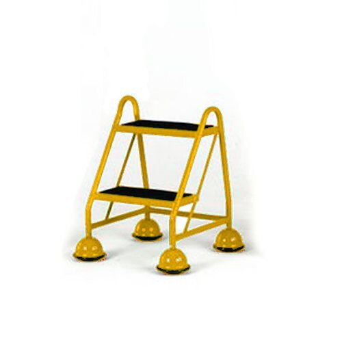 Cup Step With Slip Resistant Treads No Handrail 2 Tread In Yellow Height 1.185M Capacity 125kg