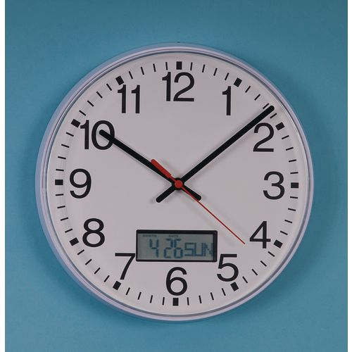 250mm Quartz Calendar Clock
