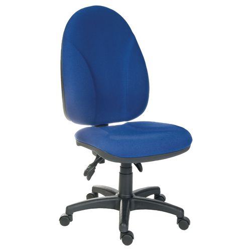 Commander Exec Operator Chair No Arms Blue