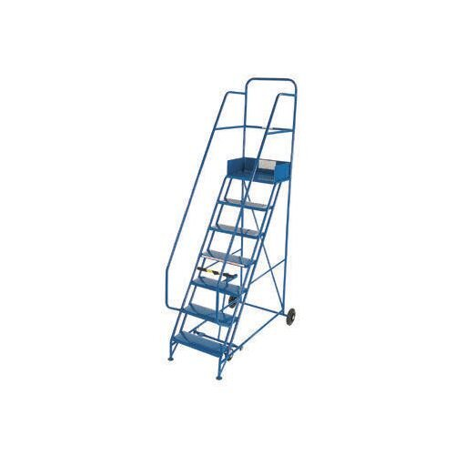 Industrial 8 Tread Mobile Step D/H Pvc Blue