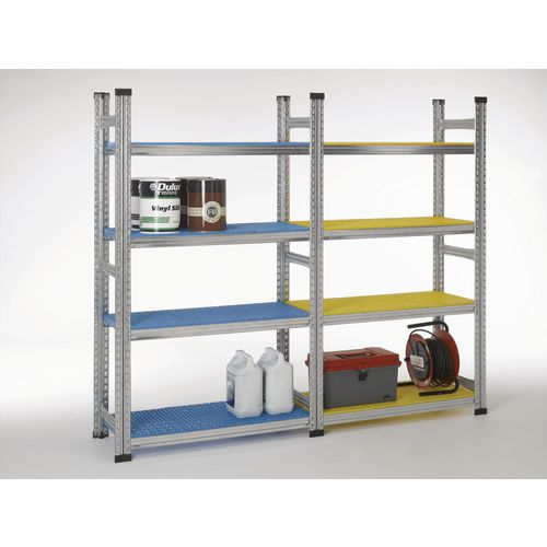 Simply Super Extension Bay Black Plastic Shelves