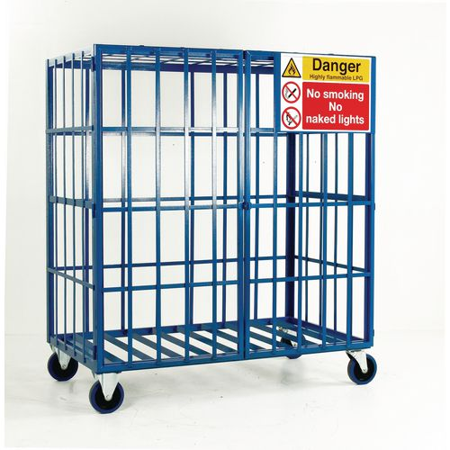 Cylinder Storage Cage Mobile No Shelves