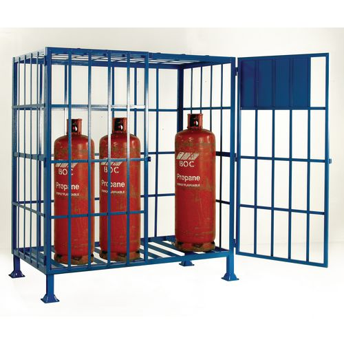 Cylinder Storage Cage Static No Shelves