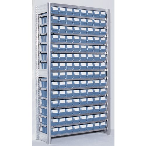 Shelving Extension Bay With Blue Rk Containers Bin Width mm: 117 Type 3