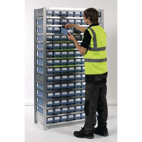 Shelving Extension Bay With Blue Rk Containers Bin Width mm: 234 Type 2