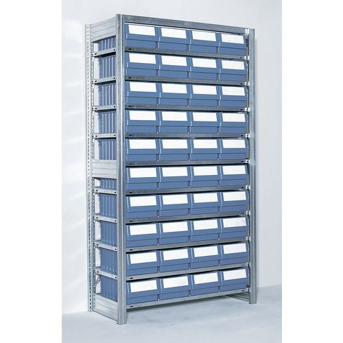 Shelving Extension Bay With Blue Rk Containers Bin Width mm: 234 Type 1