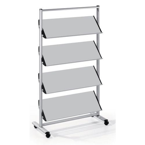 Quatro Premier Brochure Stand With Steel Shelves 12xA4