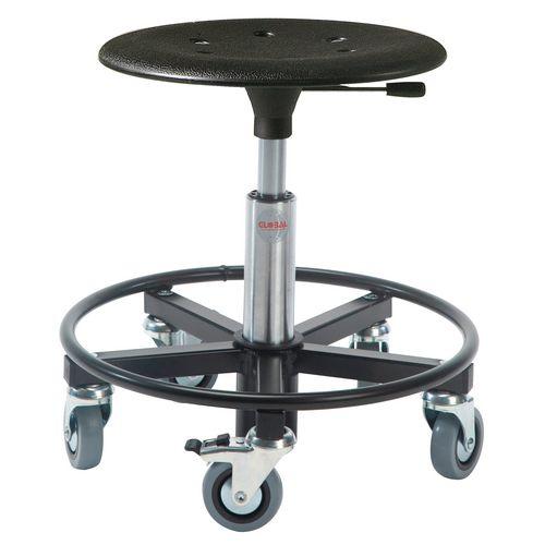 Kappa Rollerstool Steel Base Seat Height 54-80 Cm